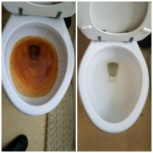 Toilet b4 and after