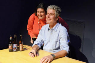 With Anthony Bourdain
