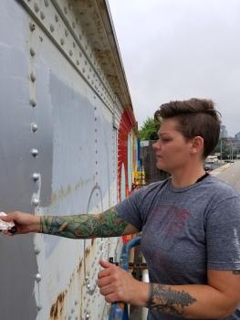 use blocking mural